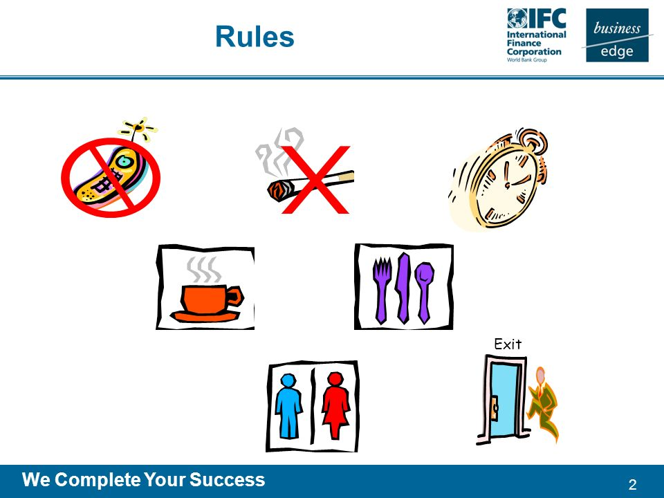 2 We Complete Your Success Rules Exit