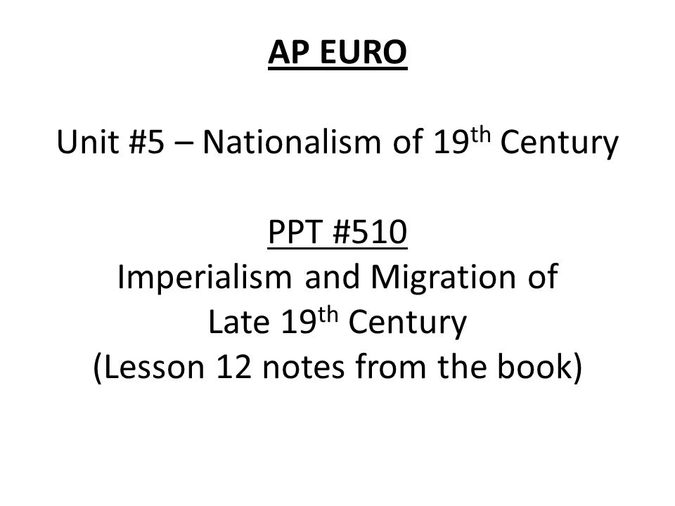 imperialism in the late 19th century essay This paper will discuss american imperialism in the 19th century american imperialism in the essay on imperialism in the late 19th century.