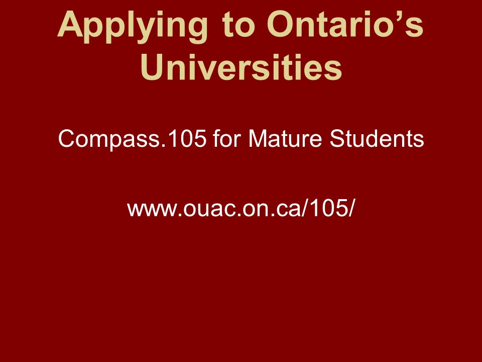 Applying To University As A Mature Student Ontario