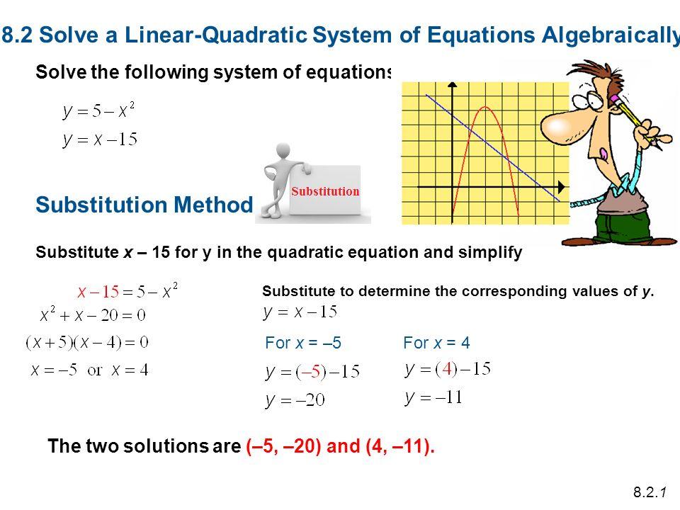 Solving Quadratic Equations Algebraically Talkchannels – Solving Systems of Equations Algebraically Worksheet