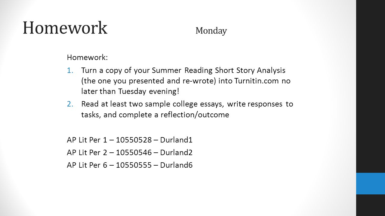 coming soon week monday college board advanced placement turn a copy of your summer reading short story analysis