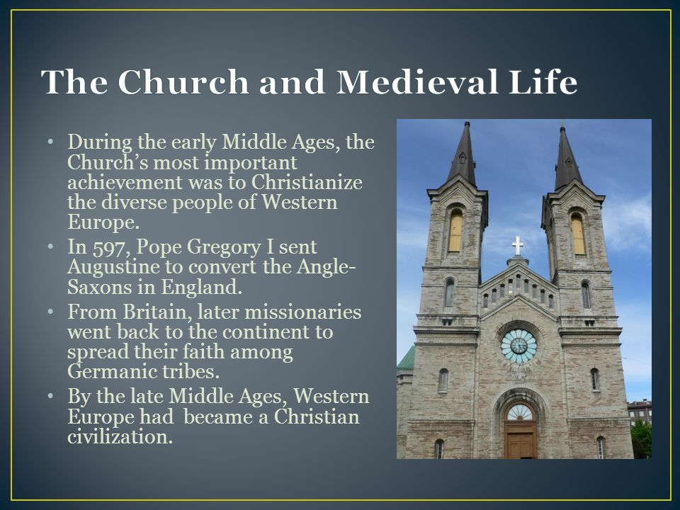 the influence of the christian church on europe In medieval times, the roman catholic church exercised significant social and political authority church worship was at the center of public life as the only unified institution throughout europe after the fall of the roman empire, the church asserted its influence over the continent's monarchs.