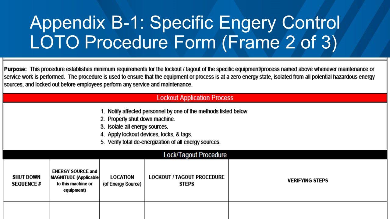 Control of Hazardous Energy (Lockout/Tagout) Program Mandatory ...