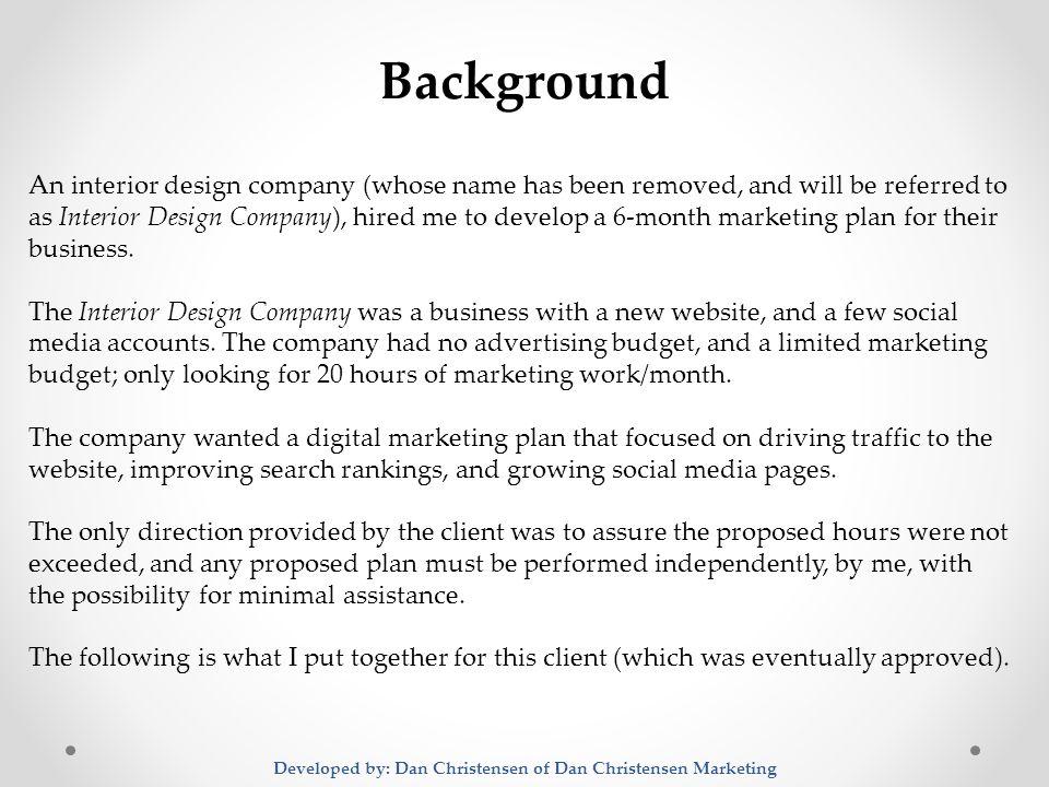 interior design marketing plan