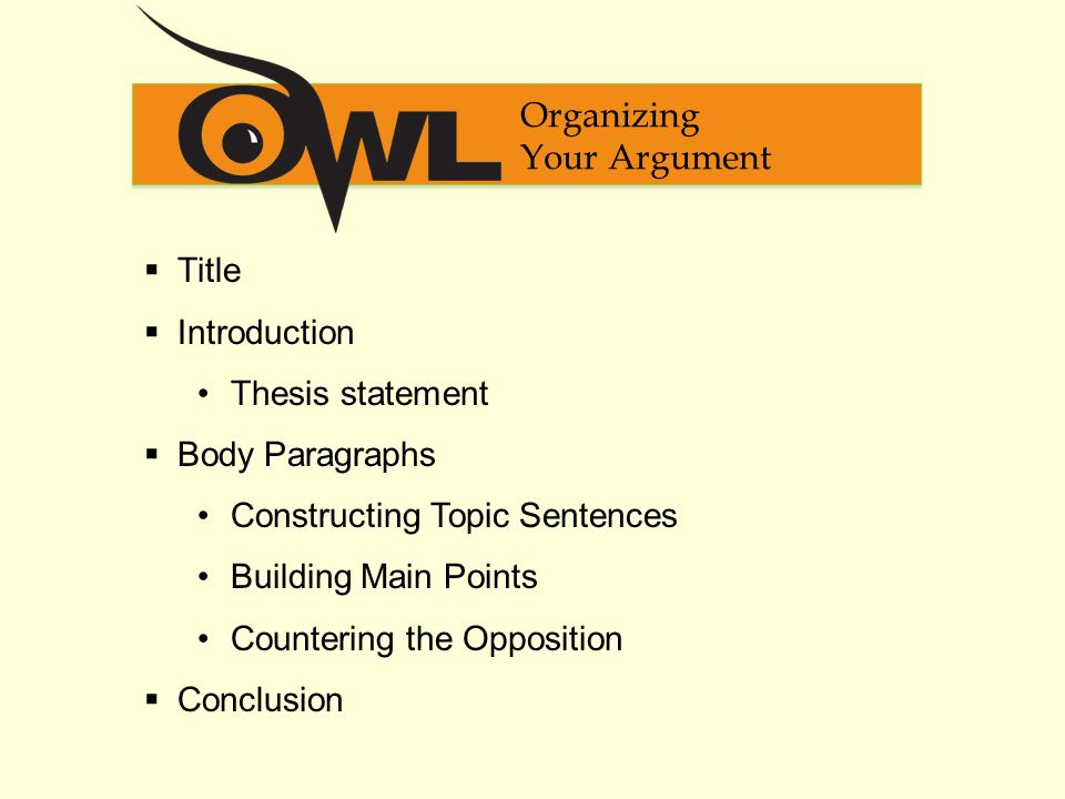 Different ways to introduce an argument?