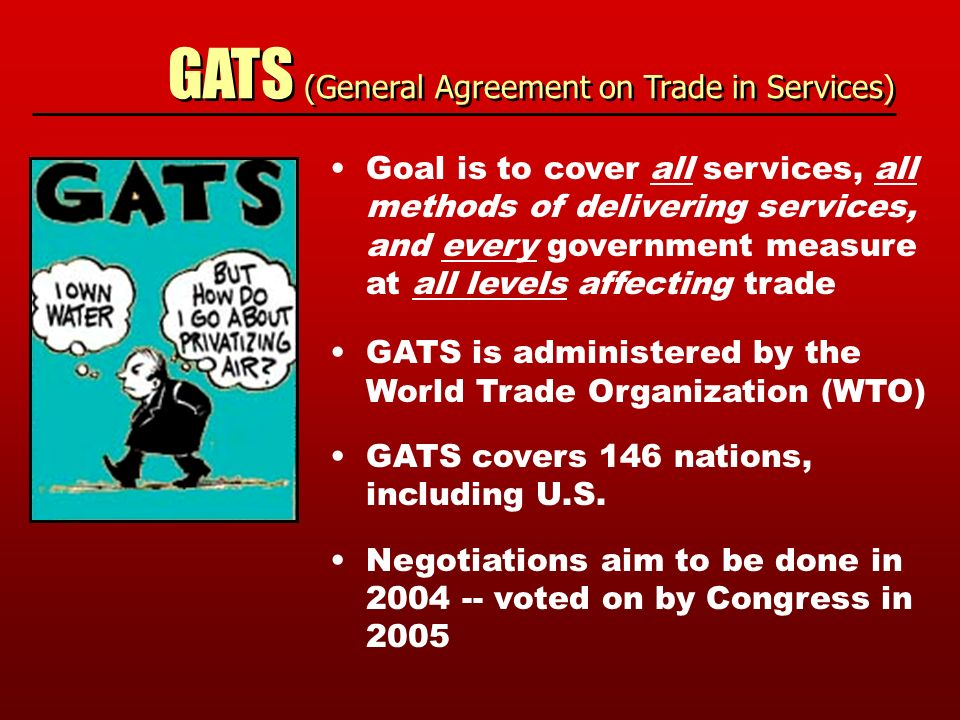 Under threat democracy under the new trade deals democracy under gats general agreement on trade in services goal is to cover all services platinumwayz