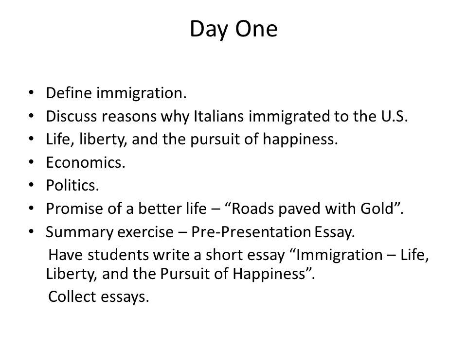 the lost children italian immigrants life liberty and the  day one define immigration discuss reasons why italians immigrated to the u s