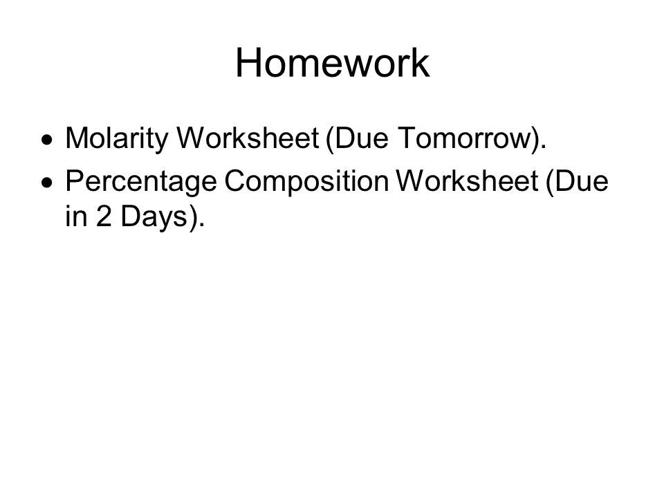 Chapter 8 Percentage Composition Water is made of hydrogen and – Percentage Composition Worksheet