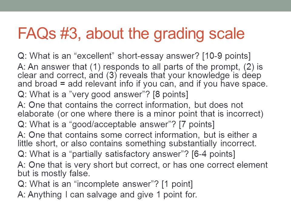 SHORT essay..10 points?