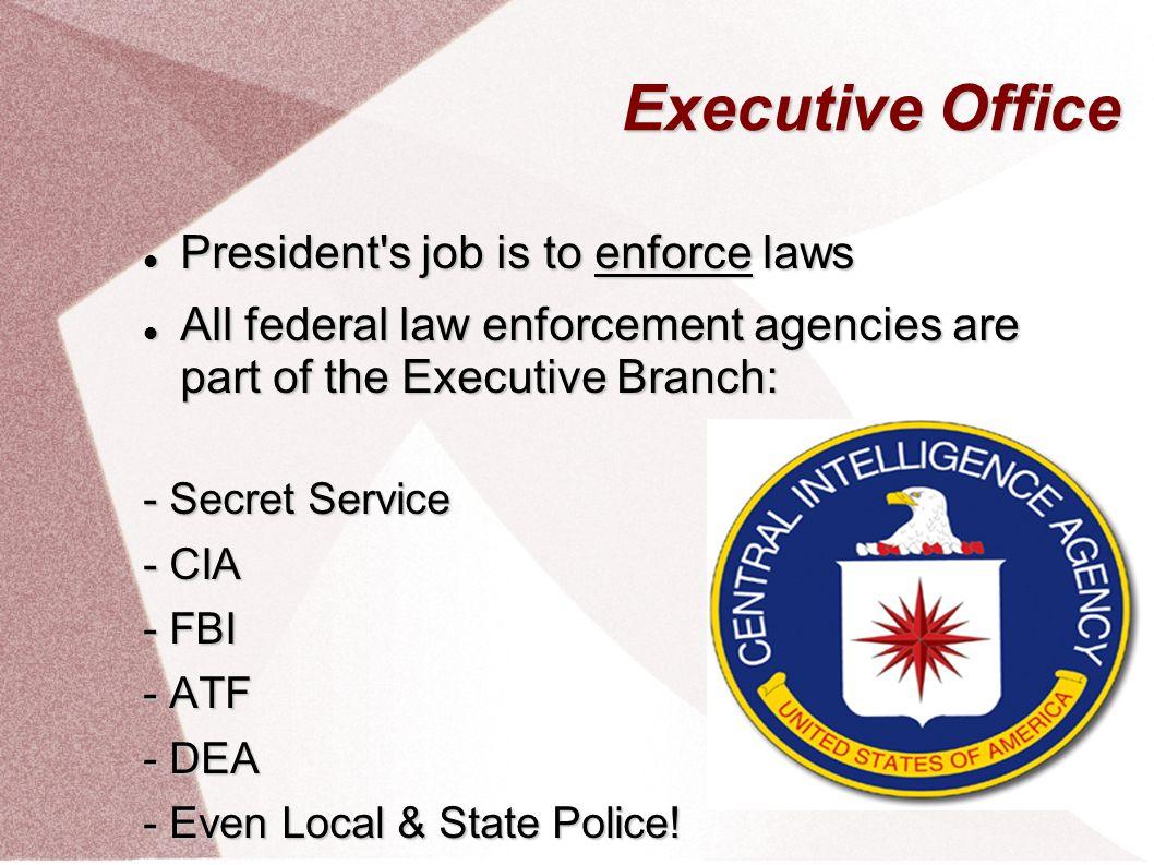Executive Branch. Executive Office President President Vice ...