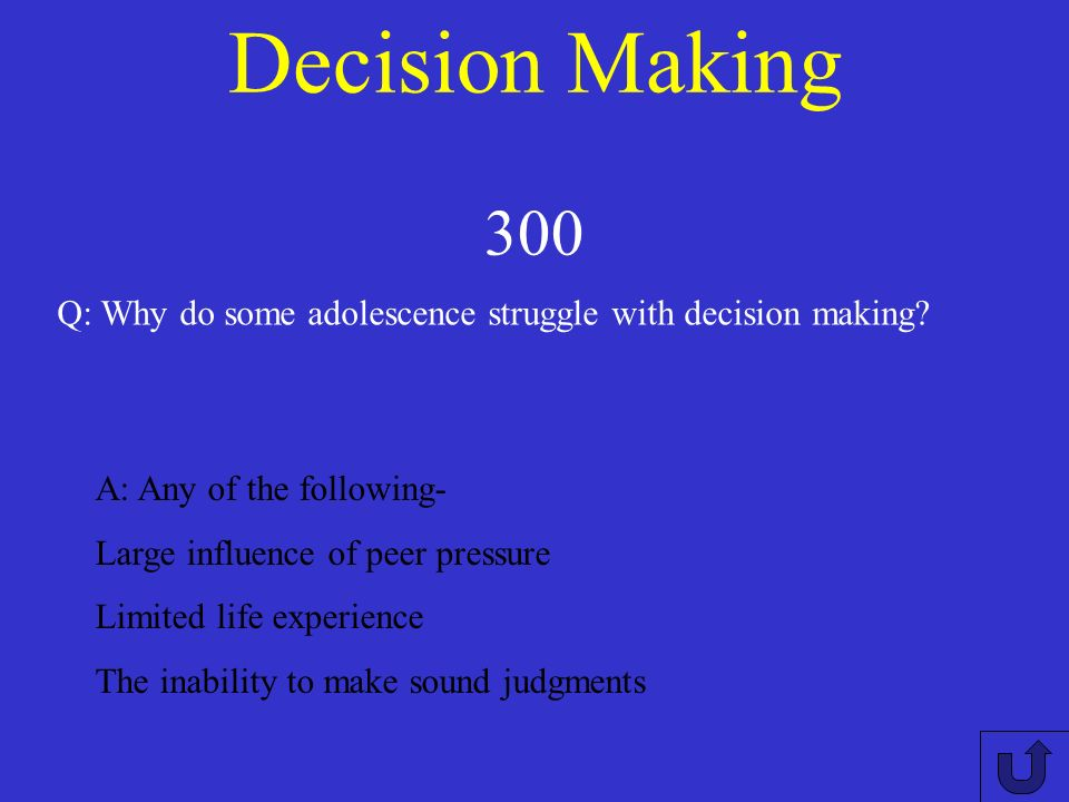 Decision Making 200 A: The action or process of making important decisions. Define decision making.