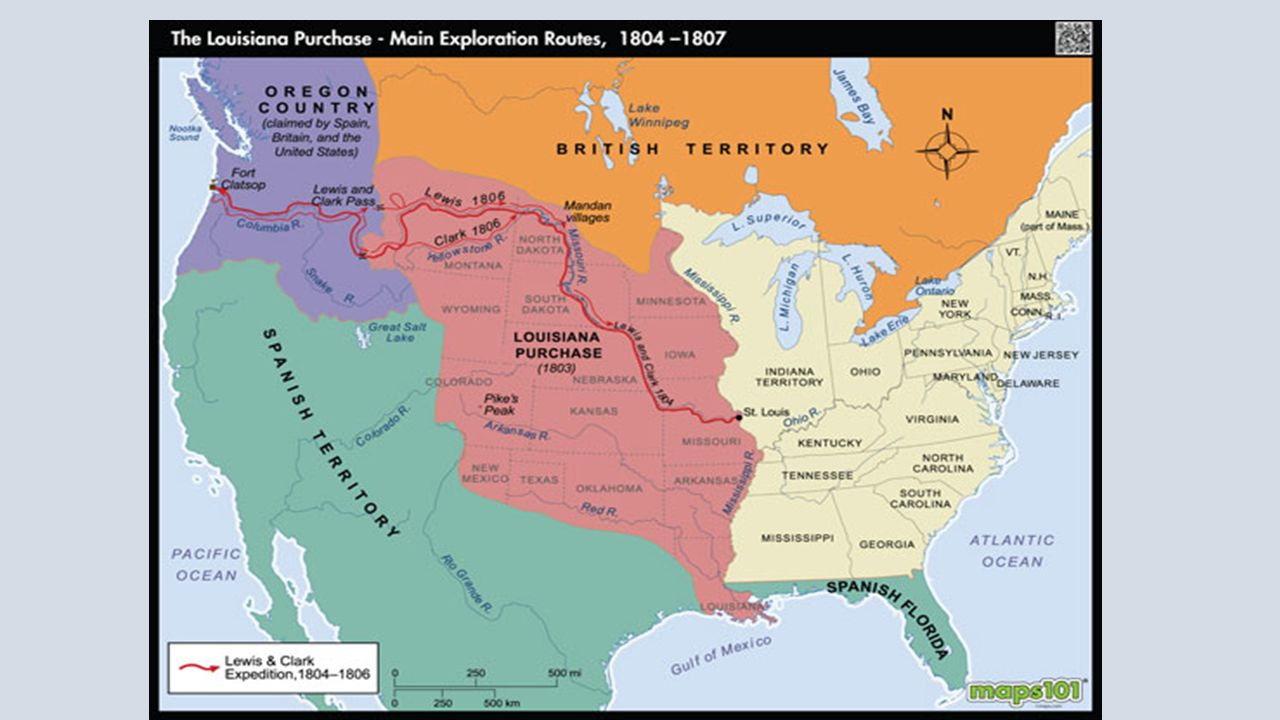 AdamsOnis Treaty Land Disputes Between Spanish And US Ppt - Map of us purchases