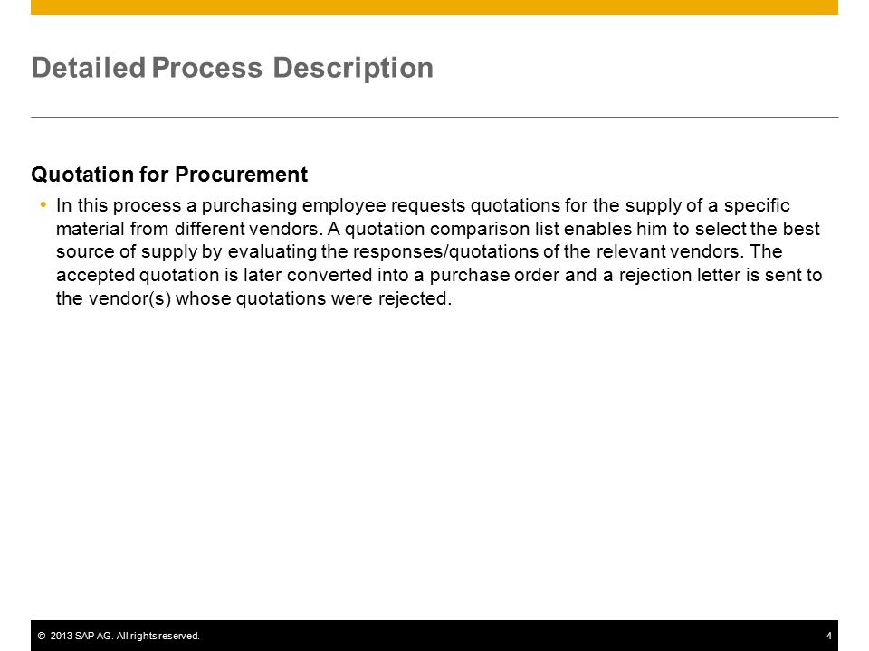 Quotation For Procurement Sap Best Practices  Sap Ag All