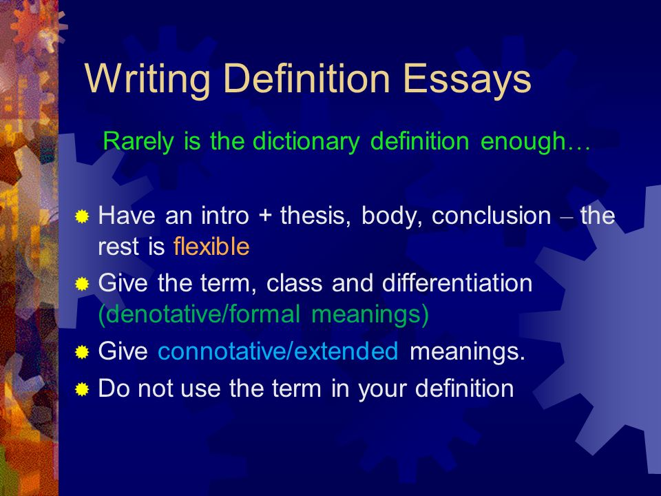 essays on definition Definition of essay essay is derived from a french word essayer, which means to attempt, or to try an essay is a short form of literary composition based on a single subject matter, and often gives personal opinion of an author.