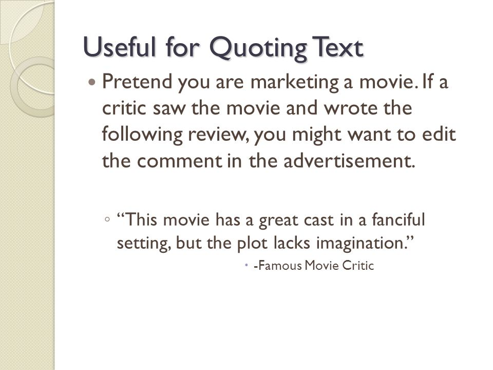 Quoting text