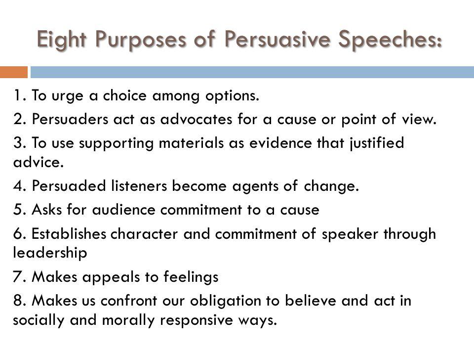 Persuasive speech words