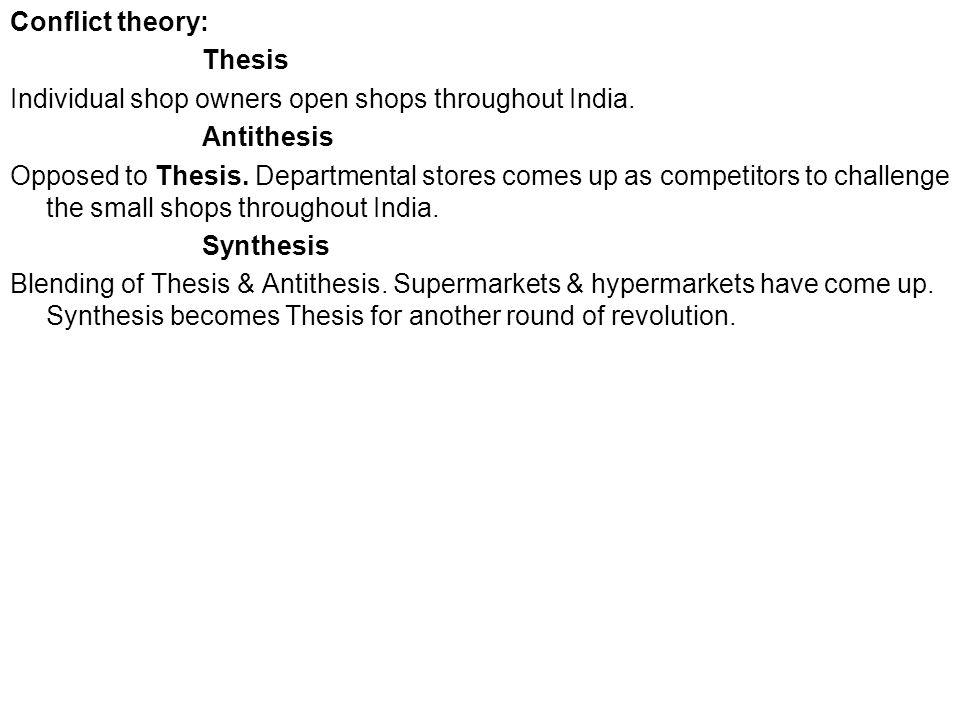 Thesis antithesis