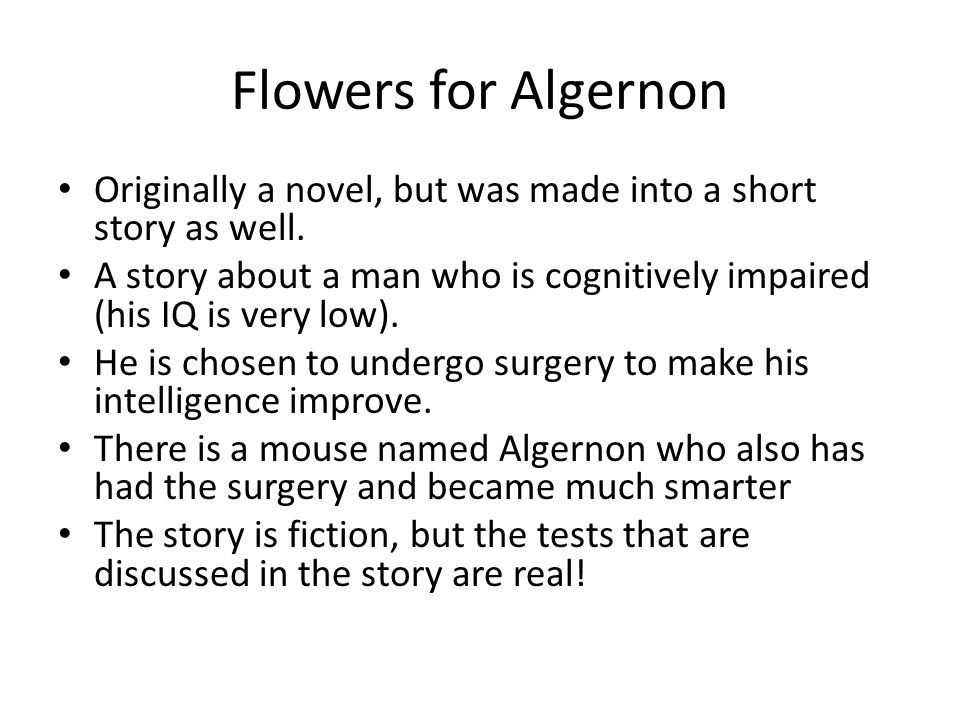 flowers for algernon a short story by daniel keyes sources for  3 flowers