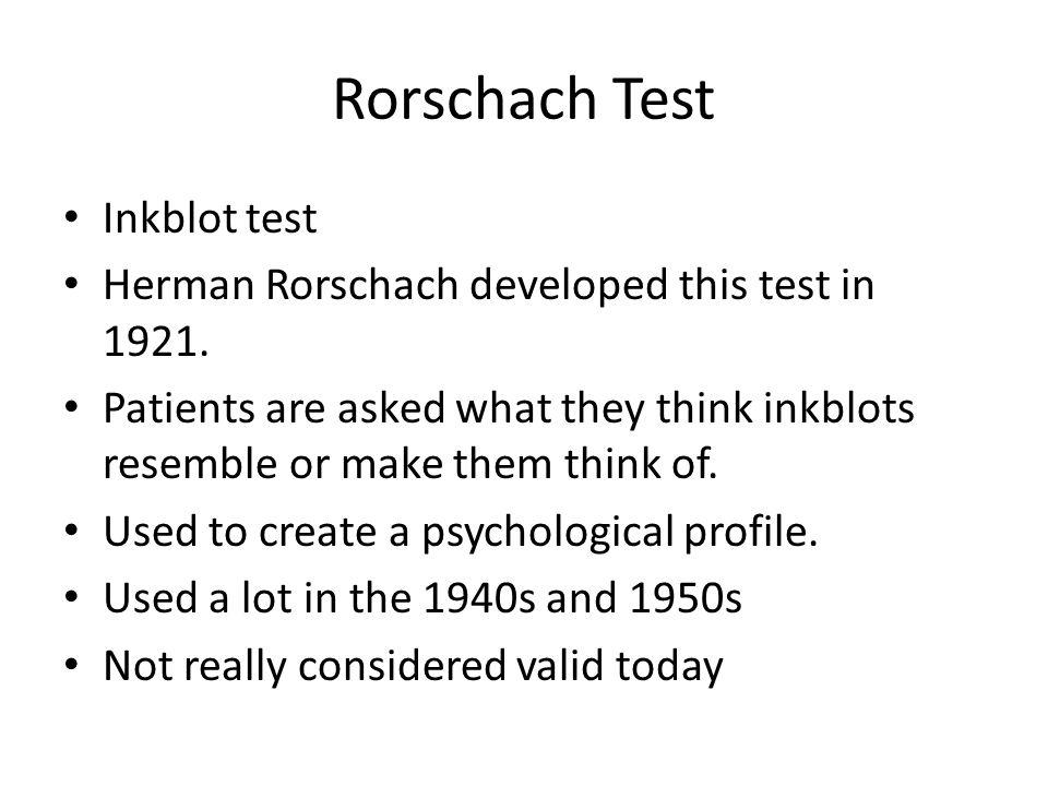 Rorschach Test Inkblot Herman Developed This In 1921