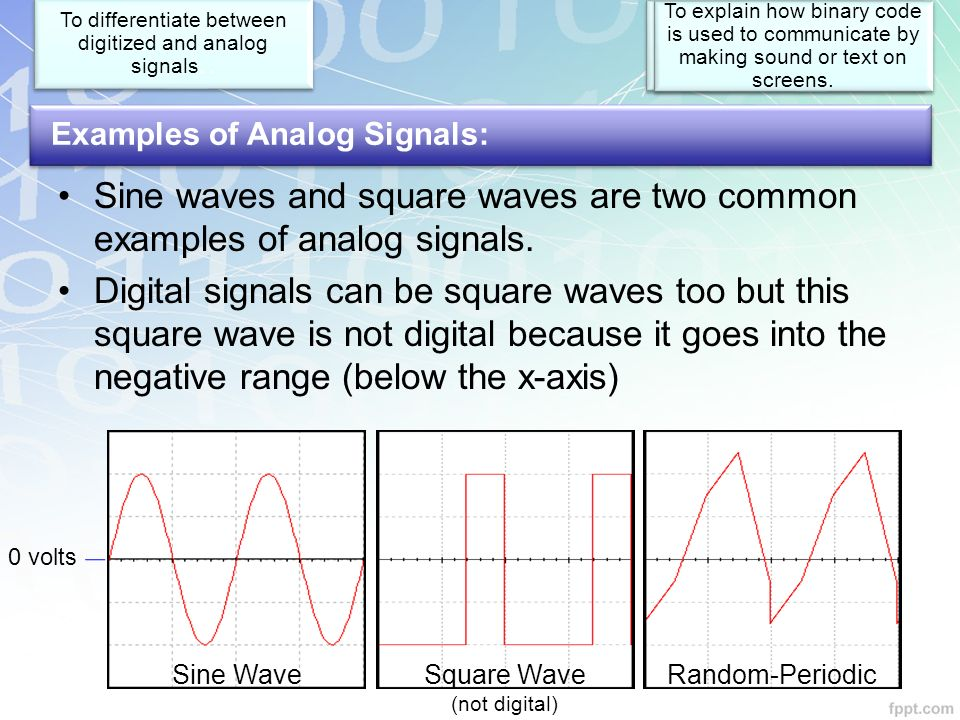 Examples Of Digital And Analog Signals Choice Image Example Cover