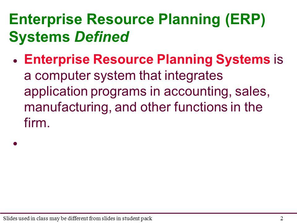 enterprise resource planning definition