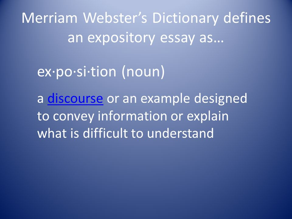essay webster definition Other category