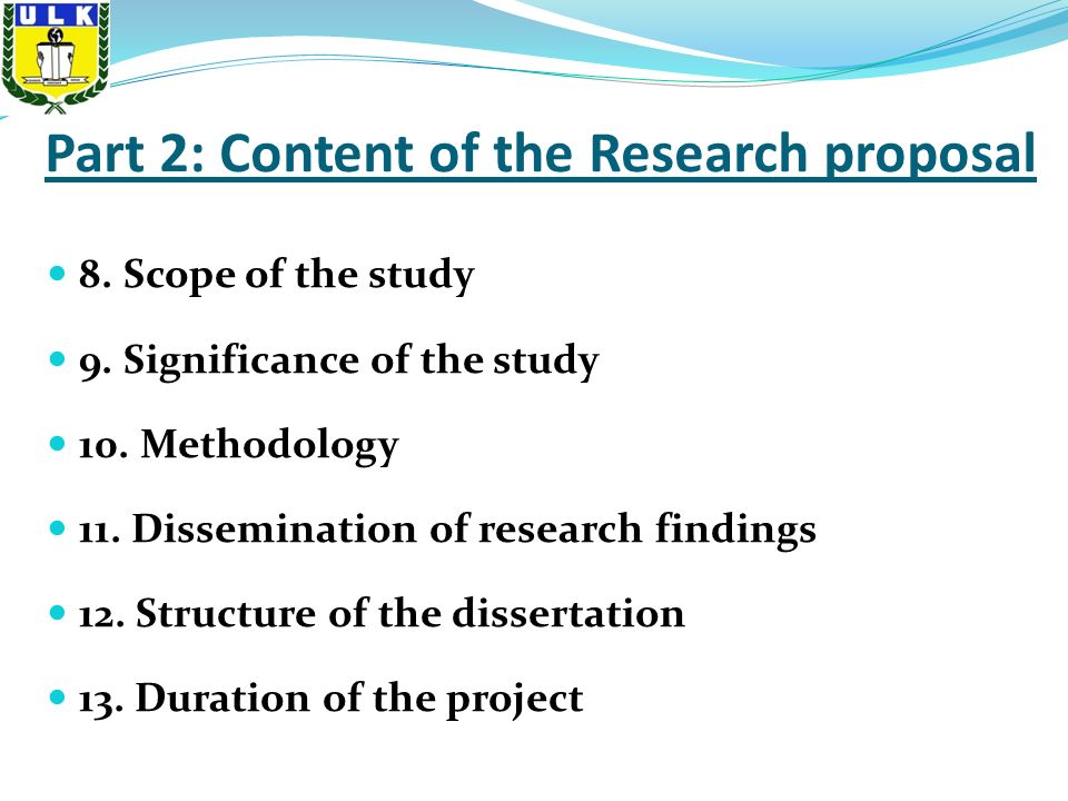 Dissertation Limitations Research