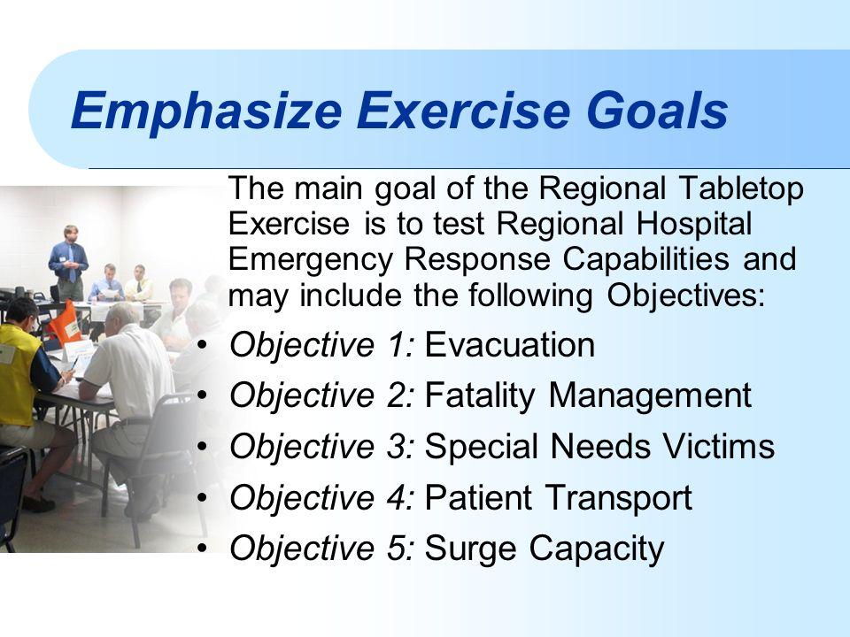 Tabletop Exercise Emergency Preparedness Kelli Arena