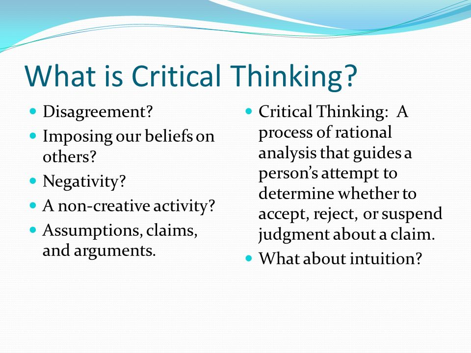 What Is Logic And Critical Thinking