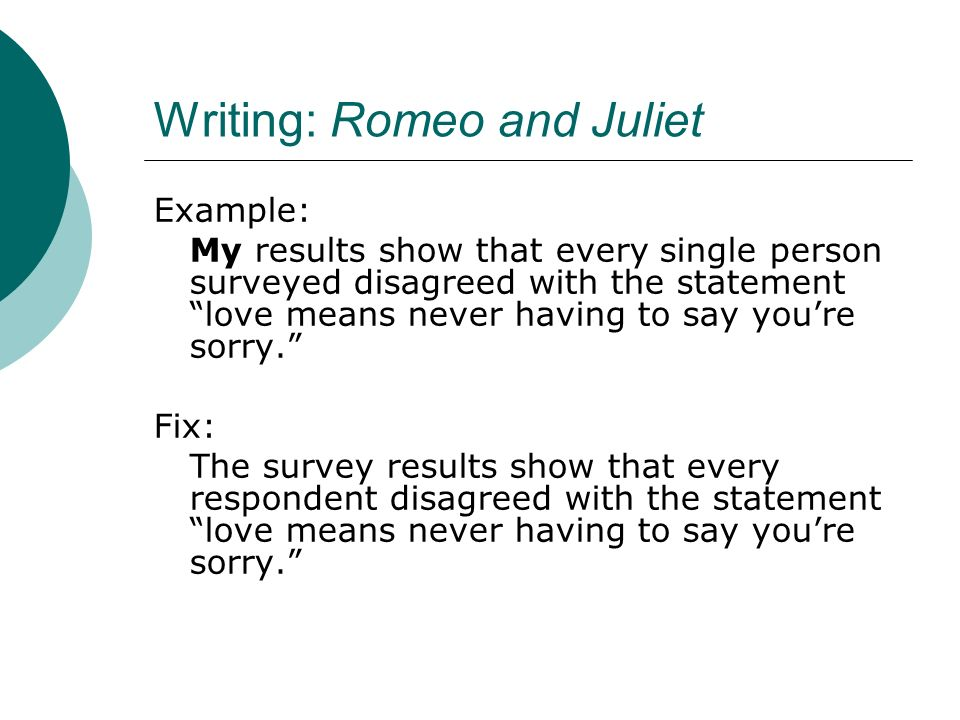 essay on romeo and juliet conflict A summary of themes in william shakespeare's romeo and juliet to kill him just as romeo catches sight of juliet and falls come into conflict with.
