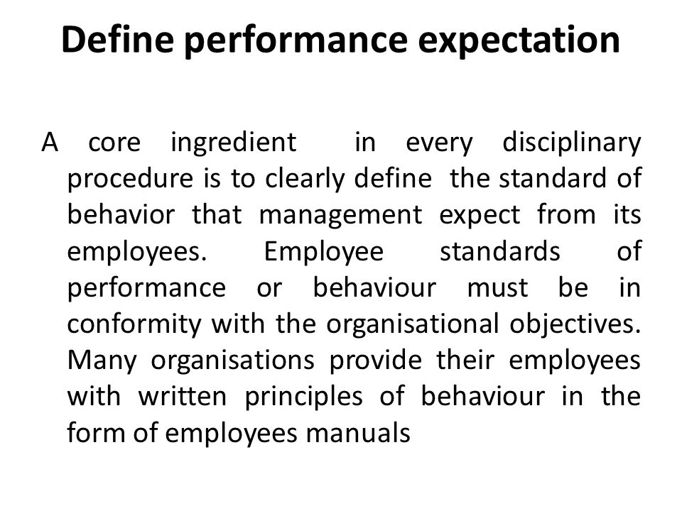 Employee Behavior Definition Issues amp Expectations