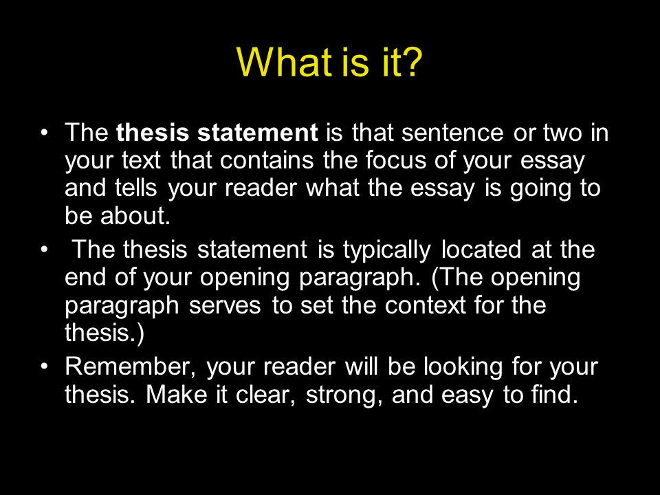 what is thesis