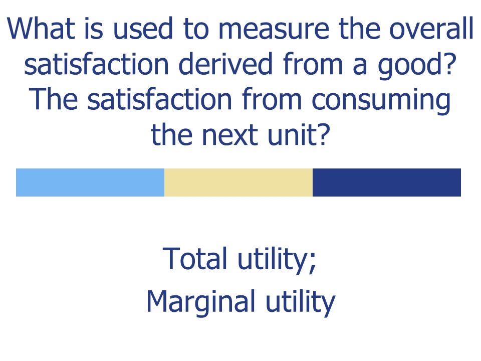 What is utility. What unit is used to measure it.