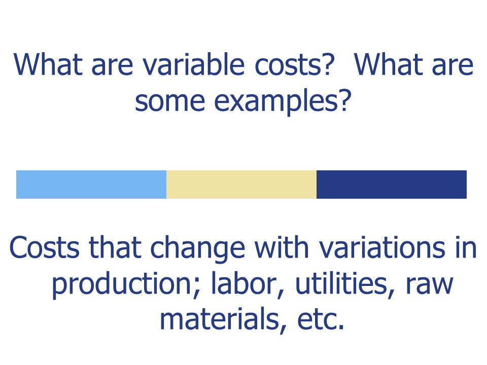 What are costs that do not change with variations in output.
