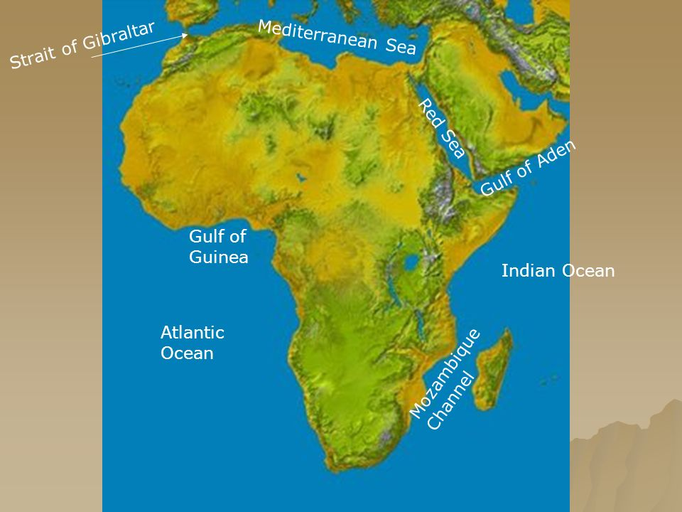 AFRICA Geography Atlantic Ocean Mozambique Channel Strait Of - World map oceans seas gulfs