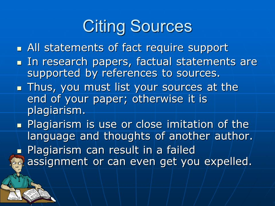 citing sources in research paper