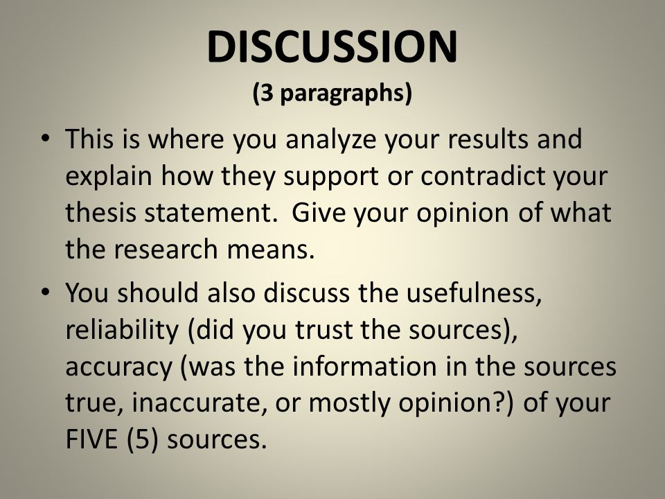 writing the discussion section of a thesis The discussion section of dissertation is probably the most complicated one the reasons are that this part is the most discursive and interpretative in it, you will evaluate the results of your study about the hypothesis and research questions as well as about the current research.