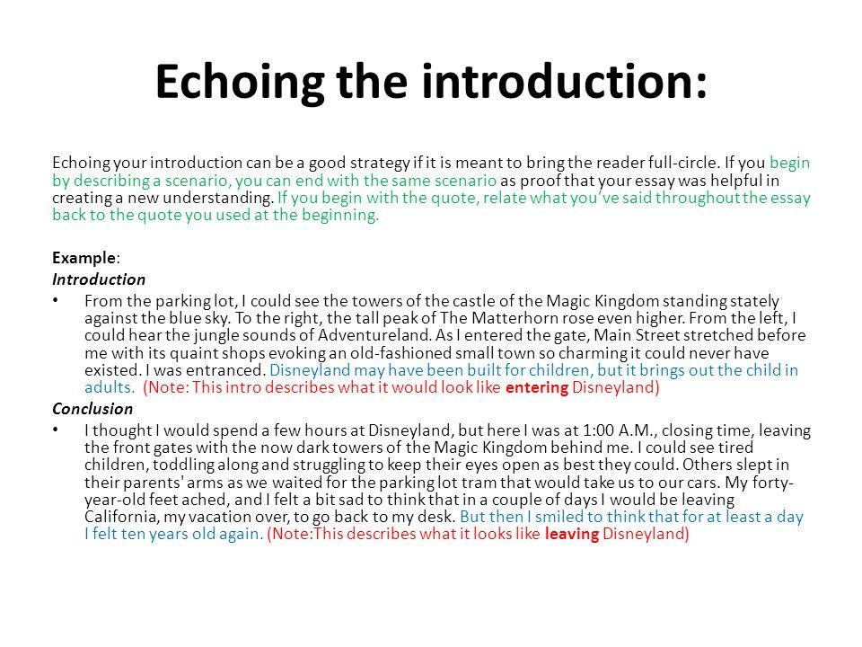 Need help with descriptive essay! (Intro/Conclusion)?