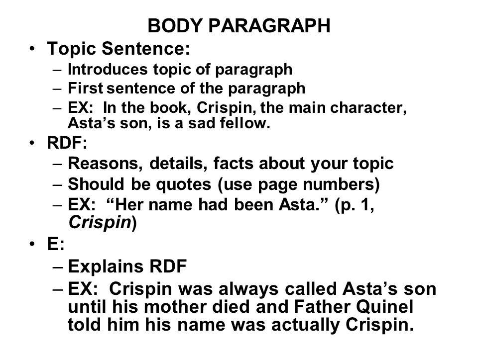 3 sentence essay