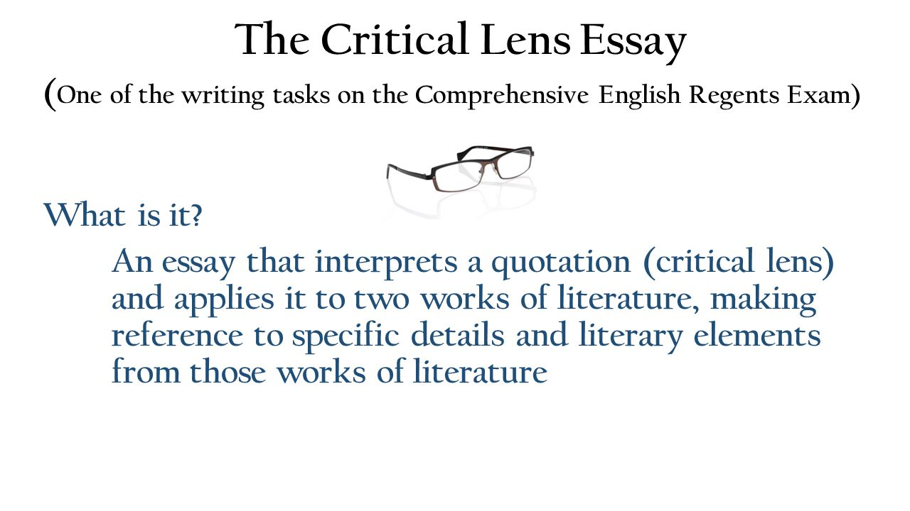 Writing A Critical Lens Essay