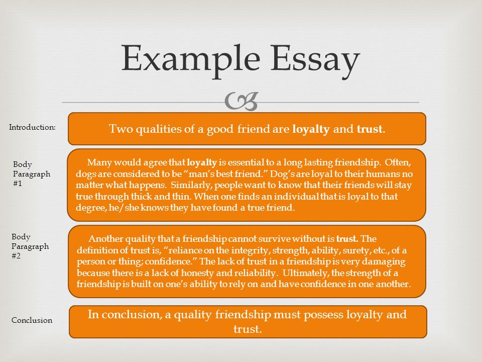 english lake travis high school   let s collect your  example essay two qualities of a good friend are loyalty and trust