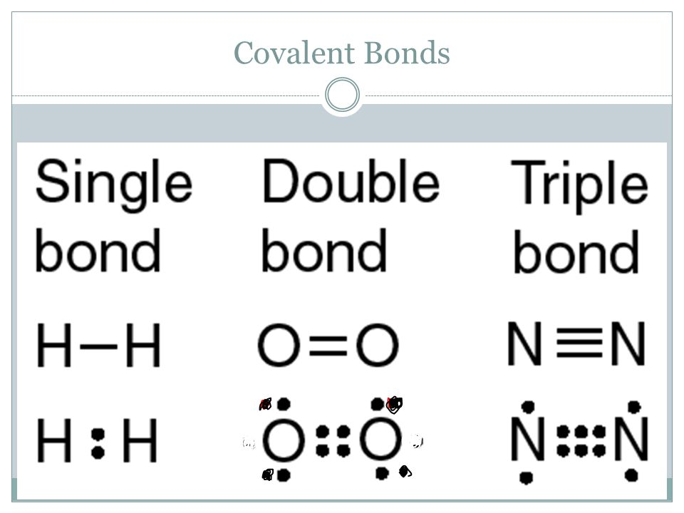 Single, Double, and Triple Bonds