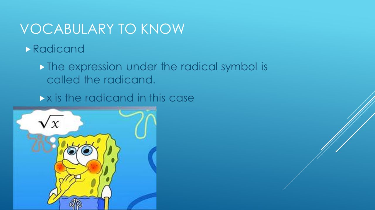 1 2 irrational numbers and square roots i can classify numbers vocabulary to know radicand the expression under the radical symbol is called the radicand biocorpaavc Image collections