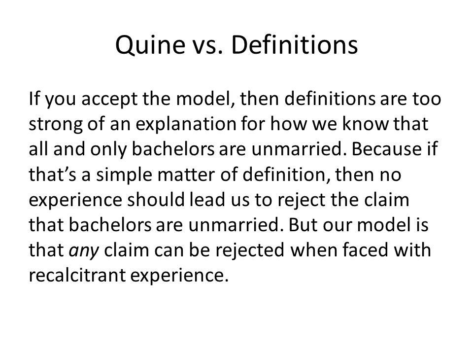 Quine vs.