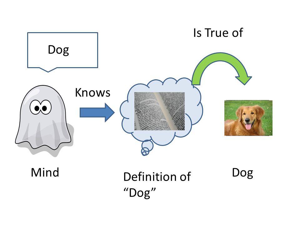 Mind Definition of Dog Dog Is True of Dog Knows