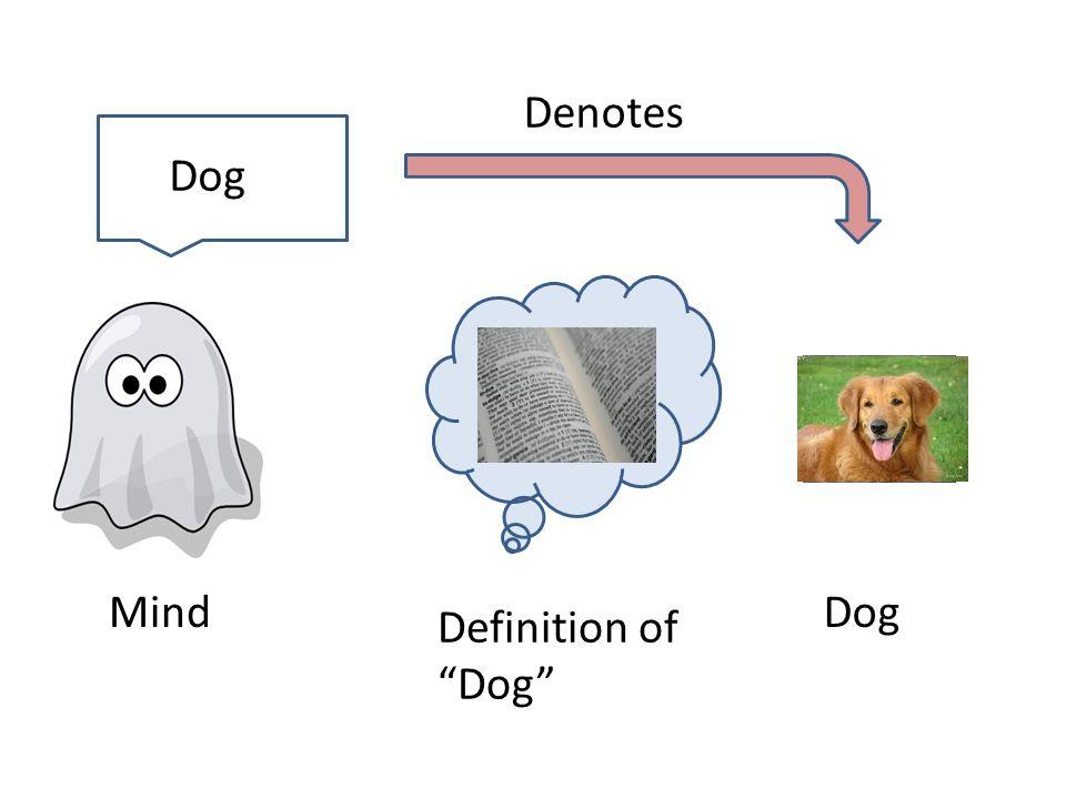 Mind Definition of Dog Dog Denotes Dog