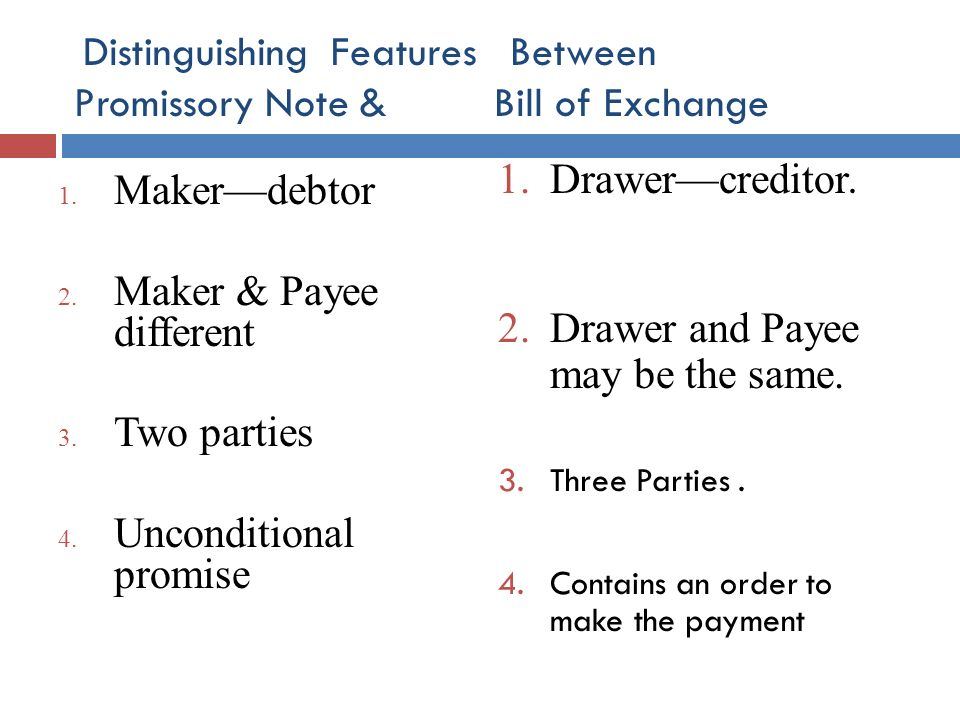 Superb Distinguishing Features Between Promissory Note U0026 Bill Of Exchange 1.  Parties Of Promissory Note