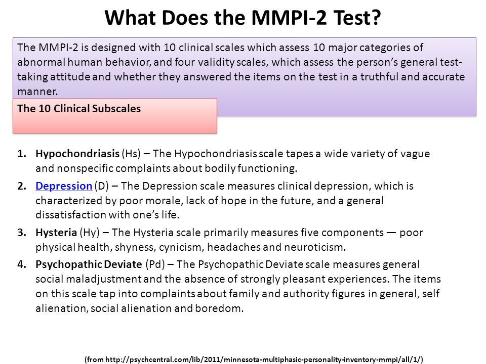 minneasota multiphasic personality inventory