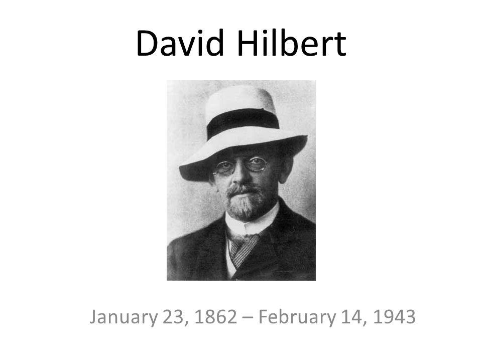 David hilberts doctoral dissertation