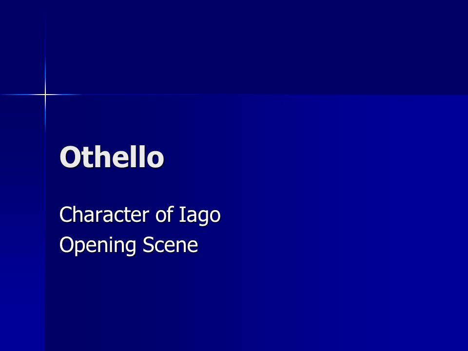 iago in othello essay Shakespeare's plays are deep and multi-level, and othello essay topics will help you decide, which side of the play to unveil the real motives of iago in othello.